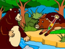 Play Rosy coloring: jungle bear now